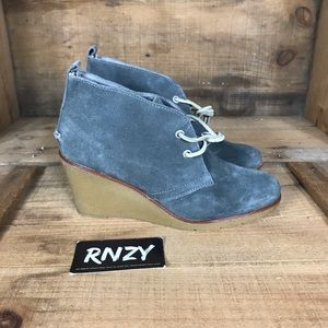 Sperry Suede Wedge Ankle Boot